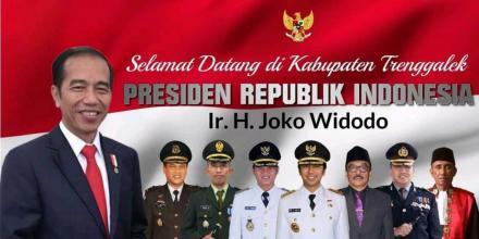 Selamat Datang Bapak Presiden RI, Bapak  Ir.  H Joko Widodo Di Bumi Menak Sopal Trenggalek