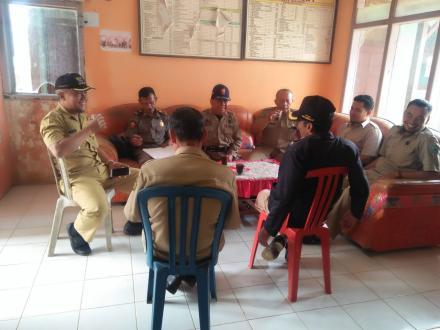 Kunjungan Bapak Camat Pule Beserta Jajaran Di Kantor Desa Puyung
