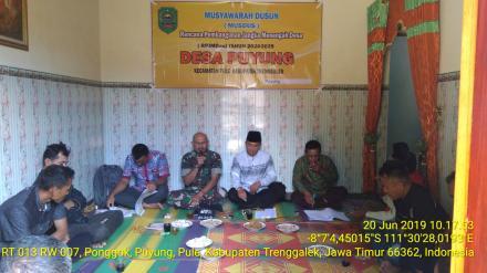 Tiga Dusun Di Desa Puyung Sudah Melaksanakan Musyawarah Dusun (MUSDUS) Penyusunan RPJMDes 2020-2025.